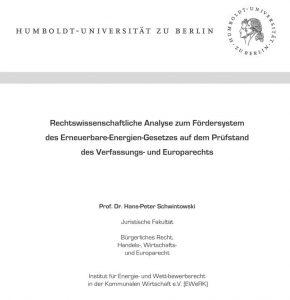 Rechtswissenschaftliche Analyse EEG